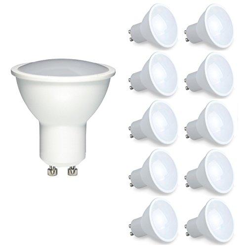 Vlio GU106W LED Leuchtmittel kalt weiß 6000–6500K dimmbar LED-Lichtern, 400lm Super Hell 40W Halogen Ersatz, Abstrahlwinkel 120, schützen die Augen besonders (10Stück)