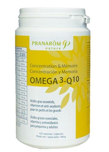 Pranarom - Capsules omega3-q10 - 120 capsules - Concentration, mémoire