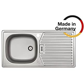 Rieber S 86K con drehex zenter Acero Inoxidable Cocina Fregadero fabricado en Alemania 860x 435mm 1platillos Escurridor fregadero lisa duradero y armario inoxidable accesorios ancho 45cm