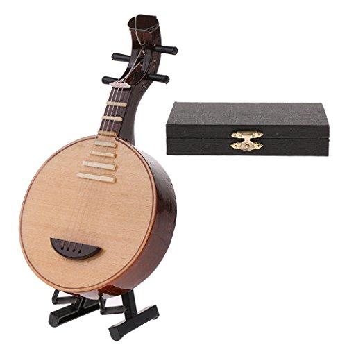 Baoblaze Miniatur Musikinstrument Modell aus Holz oder Kupfer, Puppenzubehör Für 1: 6 Aktion Figur - Yueqin