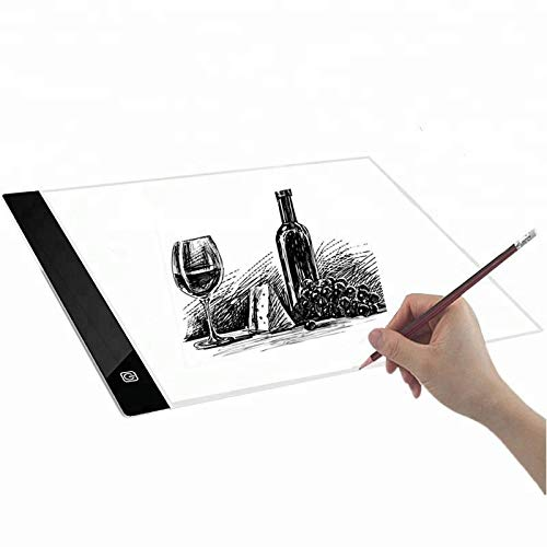 Ultradünne LED A4 Light Box Transparent-Pad Display Pad LED Zeichentafel USB Power Schablone Artist Art Tracing Tatto Tisch -