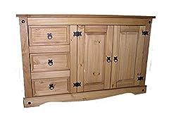 Mercers Furniture Corona Low 2 Door 3 Drawer Sideboard