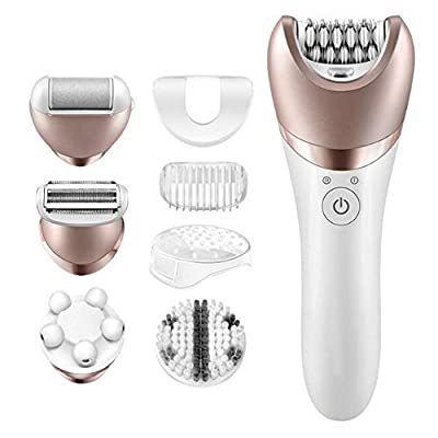 5 in 1 Women Shaver, GoodPro Waterproof Electric Shaver, Women Epilator, Lady Shaving Machine and Facial Cleaner