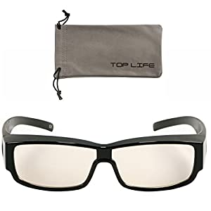 2-in-1 Brille Blaulichtfilter – Umfasstes Gestell Brille gegen Blaulicht