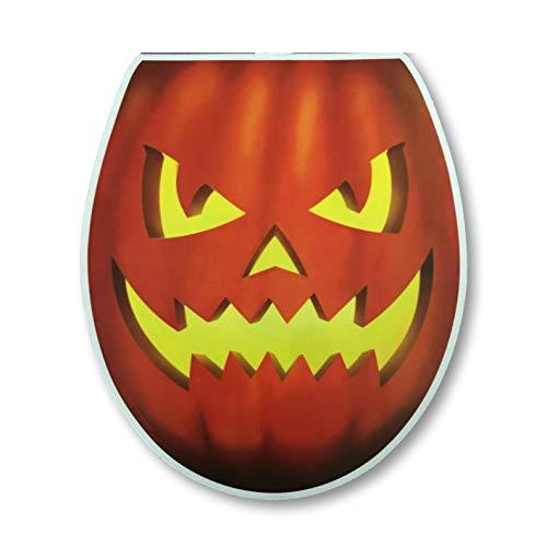 Plum Nellie\'s Treasures Halloween Badezimmer Dekorationen - Halloween WC Aufkleber - Zombie, Jack-O-Lantern oder Monster Eyeball Halloween One Size Grinning Jack-o-Lantern
