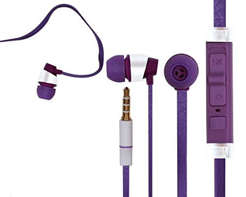 iBall Andi4-B2 IPS COMPATIBLE Wired Headphone In-ear with Music Control/Earphone/Stereo Headphone (Purple) with Super Sound 3.5MM Jack by Mobile Link  available at amazon for Rs.299