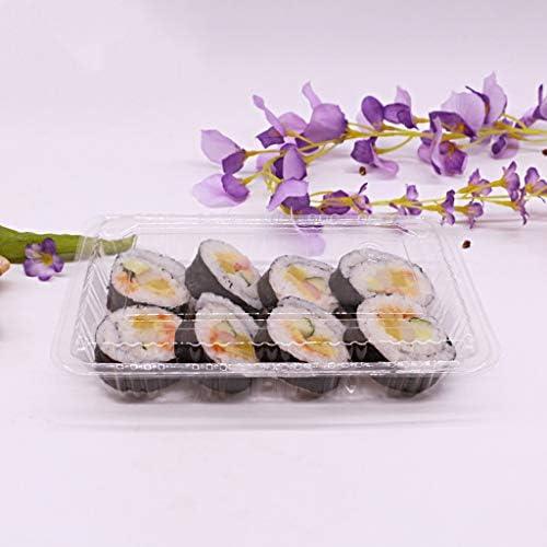 Lunch Box Ciotola - Scatola plastica Sashimi Sushi in plastica Scatola Semplice USA e Getta - Scatola da Dessert Torta e Verdura in Insalata [100 Pezzi] Tableware (Dimensioni   S.) a9c2a6