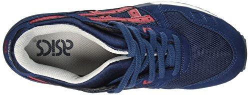 Asics Unisex-Erwachsene Gel-Lyte III Sneaker Blau (indian Ink/tango Red 5025)