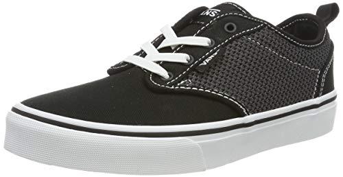 Vans Jungen Atwood Slip-on Sneaker - Schwarz ((Mesh/Canvas) Black/White U2n) - 38 (Jungen Vans Slip On Schuhe)