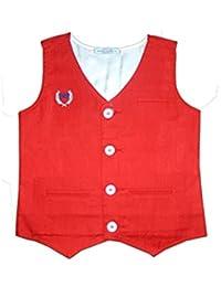 Kooka Kids V-Neck Sleeveless Party Wear Boys Waist Coat