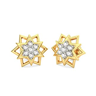 BlueStone 18K Yellow Gold and Diamond Asta Earrings