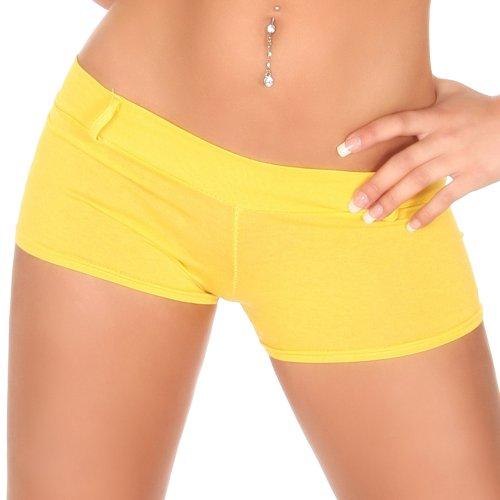 Sexy Hotpants - Shorts Einheitsgröße für 32,34,36 und 38 - Gelb