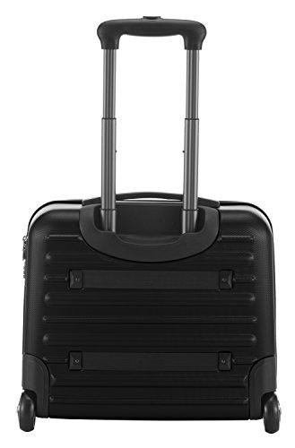 HAUPTSTADTKOFFER - Tegel - Pilotentrolley Hartschalenkoffer Koffer Handgepäck Trolley Rollkoffer, TSA, 38 cm, 32 Liter, Schwarz - 6