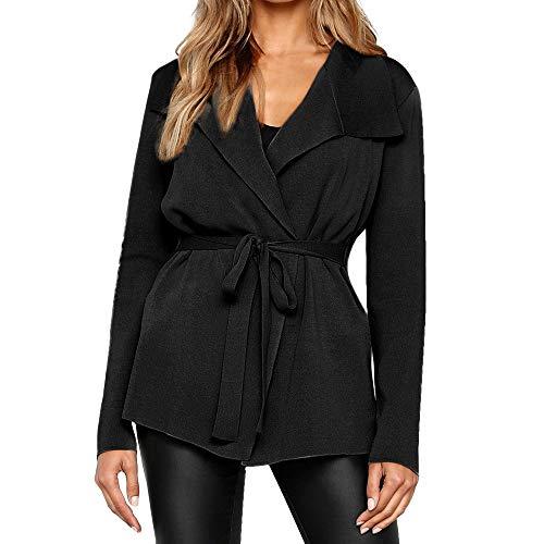 JURTEE Damen Winter Strickjacke Cardigan Pullover Blazer Jacke -
