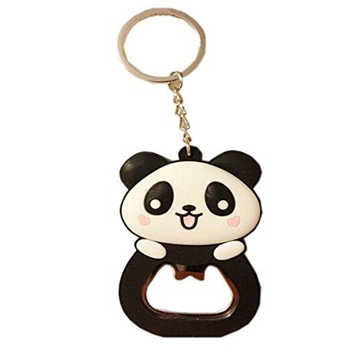 Niedlicher Panda-Flaschen-Öffner Schlüsselband Portable Bier- / Soda-Flaschen-Öffner (3,9 * 1,9 '') (Bier Schlüsselband)