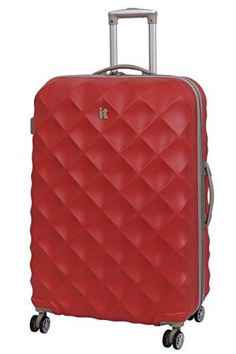 it luggage Debossed Diamond Koffer, 80 cm, 157 liters, Rot (Aurora Red)
