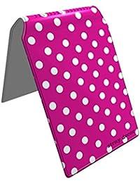 Stray Decor (Polka Dots (Pink and White)) Étui à Cartes / Porte-Cartes pour Titres de Transport, Passe d'autobus, Cartes de Crédit, Navigo Pass, Passe Navigo et Moneo