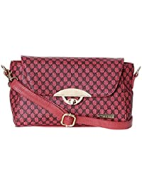 Bern Red Color Checkered Stylish Sling Bag For Women