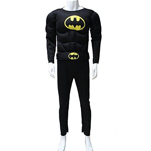 LAVINI COSPLAY-Traje de Batman para adultos fase ropa del funcionamiento del juego de los hombres cosplay ropa ropa de alto rendimiento