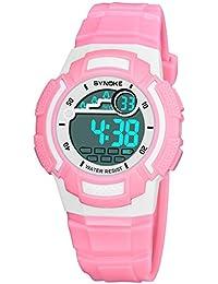 Nalkusxi Personalidad Impermeable Masculino Y Femenino Reloj Eléctrico Reloj de Moda Infantil 9578 (Color :
