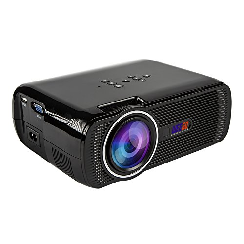 WEEGO Projector, WEEGO 130 Inch Full Color Portable LED Projector 1200 Lumens for Home Theater supports PC, Laptop, TV Box and More (Black)