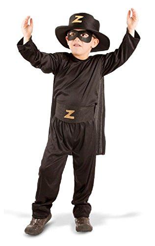 Folat 21895 - Zorro Kinderkostüm, 5-teilig, 116-134 cm, schwarz