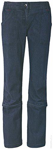 CRIVIT® Damen Trekkinghose, mit Zip-off-Funktion auf Capri-Länge, Gr. 40 ( jeans )