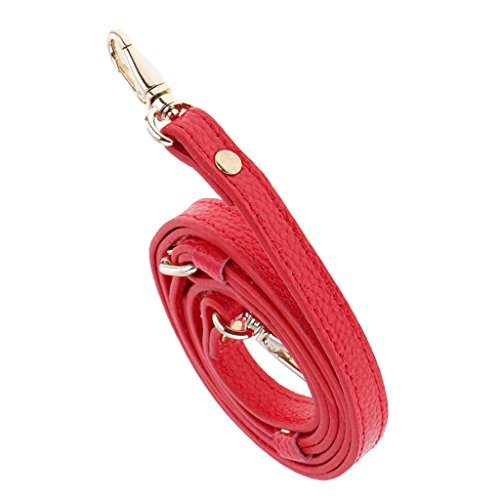 e02146e4fdf5 MagiDeal Correa de Bolsa de Cuero Reemplazable Ajustable DIY - Rojo
