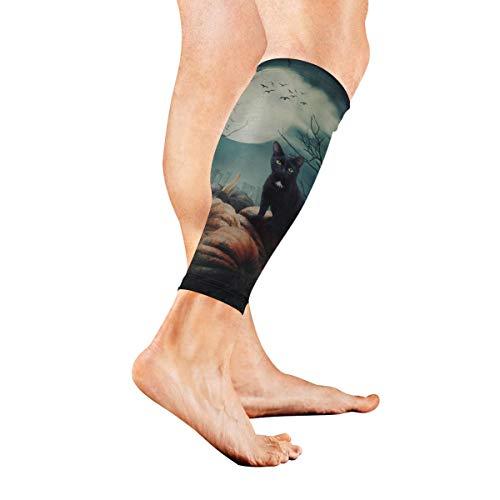 AGIRL Der Zauberwald ist nachts erschreckend Wade Kompression Ärmel Bein Kompression Socken für Schienbeinschiene Kalb Schmerzlinderung Männer Frauen und Läufer verbessert die Durchblutung