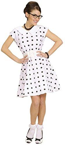 Generique - 50er-Jahre Weißes Kleid mit Pünktchen für Damen