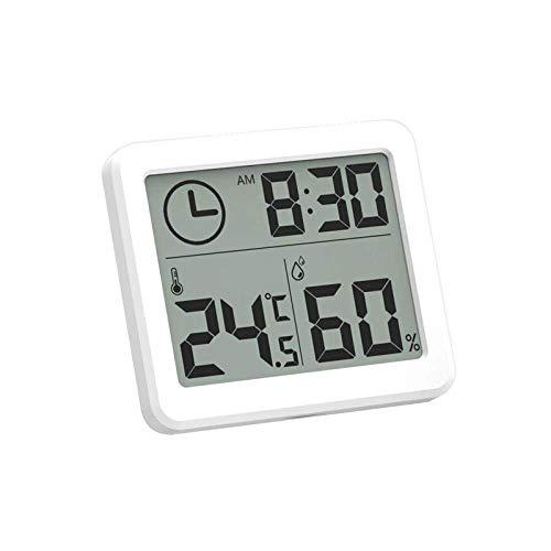 NR Nuevos Relojes Digitales Ultrafinos LCD Temperatura Electrónica Humedad Relojes De Escritorio Cuando Titular Inicio Reloj De Pared Termómetro Higrómetro