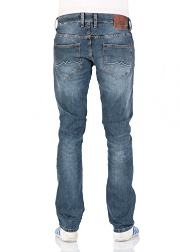 Mustang Herren Jeans Oregon Straight - Blau - Scratched Used Scratched Used (081)