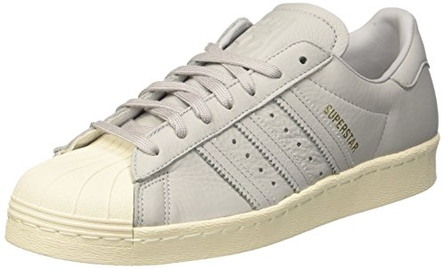 adidas Herren Superstar 80s Hohe Sneaker Grau (Grey Four/Blue/Red-Sld)