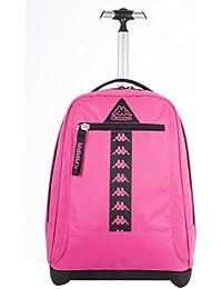 BIG TROLLEY KAPPA - LOGO - Mochila con ruedas y correas de hombro ocultables- rosa 31Lt