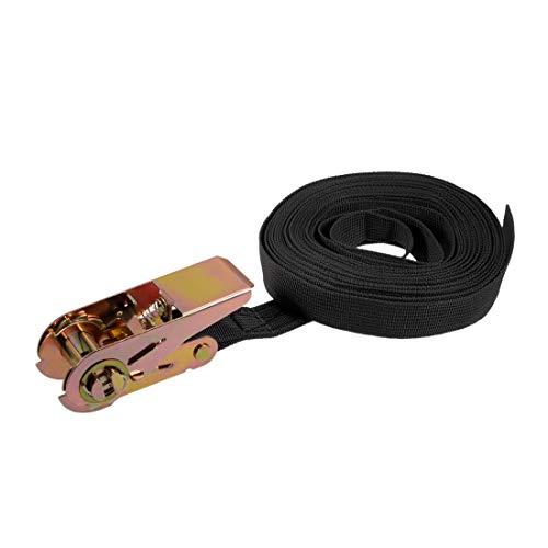 7M x 25mm Ratchet Tie Down Strap Cargo Lashing Straps 250Kg Work Load, Black