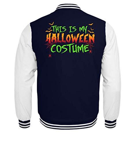 Das Ist Mein Halloween Kostüm Costume Lustiges Boo Gruseliges Spinnen Fledermaus T-Shirt - Kinder College Sweatjacke
