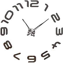 e1e82e8ec042 AECDD Moderno Minimalista árabe árabe acrílico Espejo Reloj de Pared de  Gran tamaño Mudo Moda clásico