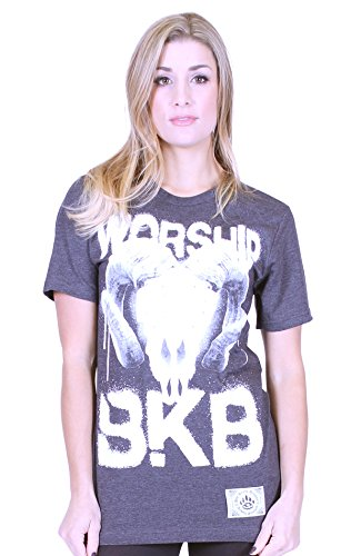 BKB - Maglia sportiva -  donna Dark Grey Heather 38-40 (XS)