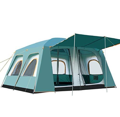 VIVIJ Großes Lagerzelt - Für 8-12 Personen Ultra Large Wasserdichtes Kuppelzelt mit Veranda, 2 1 Trennwand Familiengruppe Campingzelt im Bildschirmrucksack Zelt -