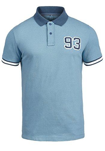 Blend Gregor Herren Poloshirt Polohemd T-Shirt Shirt Mit Polokragen Aus 100% Baumwolle, Größe:M, Farbe:Niagara Blue (74628)