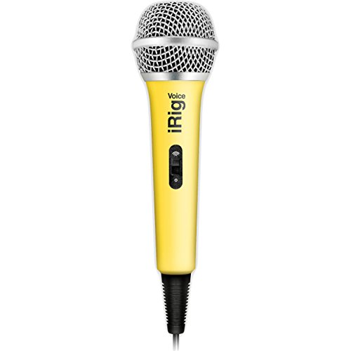 IK Multimedia 03-90042-4 iRig Voice Mikrofon für iOS/Android gelb (Multimedia Ik Android)