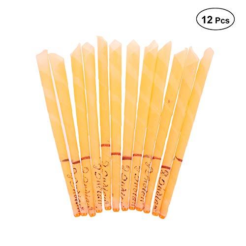 SUPVOX 12pcs cera de la oreja del kit de eliminación de velas conos de cera de abeja
