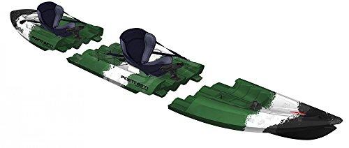 Point65 Tequila Tandem Sit on Top Kajak Anglerkajak Zweierkajak Camouflage, Farbe:Camouflage;Ausstattung:Mit Airsitz und Anglerausstattung