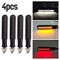 ‏‪Flowing Turn Signal Lamp 24 LED Sequential Indicator Light Daytime Running Light Rear Turn Signal Brake Lamp Universal 4Pcs‬‏