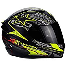 SCORPION Casco Moto EXO-1200 Air Solis, Matt black/neon yellow, m