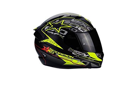 Scorpion Motorradhelm EXO-1200Air Solis, mattschwarz / neongelb, Größe S