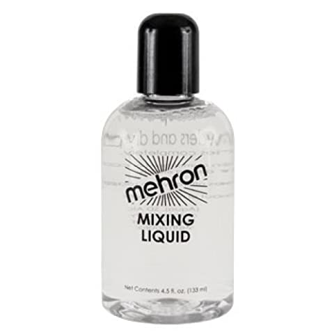 Mehron Theatrical Mixing Liquid (133ml) for use with metalic powder