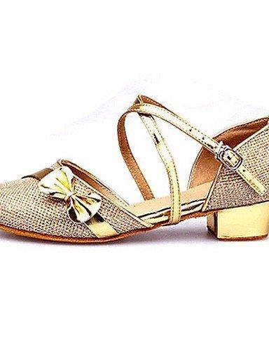 ShangYi Non Customizable Women's/Kids' Dance Shoes Latin Paillette Flat Heel Purple/Red/Silver/Gold Silver