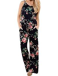 d8c819ac06 ZHRUI Culotte Mono para Mujer Pantalones Cortos de Verano