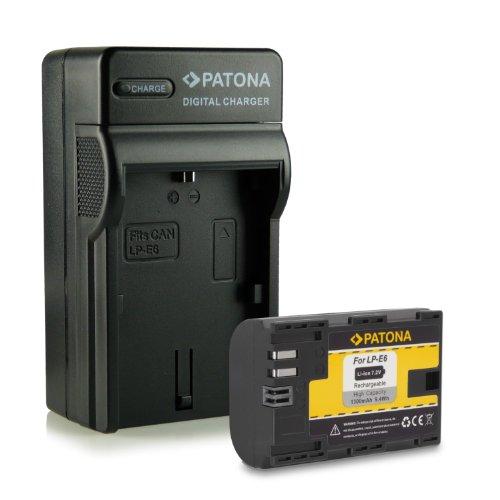 Novità - 4in1 Caricabatteria + Batteria como LP-E6 per Canon EOS 5D Mark II | 5D Mark III | 6D | 7D | 60D | 60Da